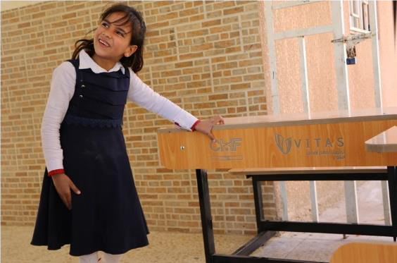 community events - CHF Vitas Iraq equips public schools with desks and whiteboards